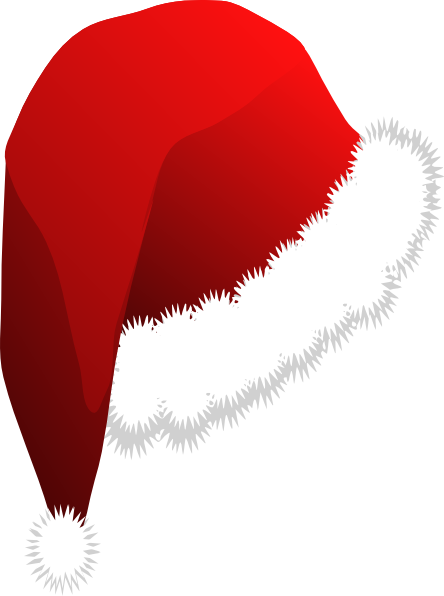 Father christmas hat clipart banner black and white stock Free Picture Of A Santa Hat, Download Free Clip Art, Free Clip Art ... banner black and white stock