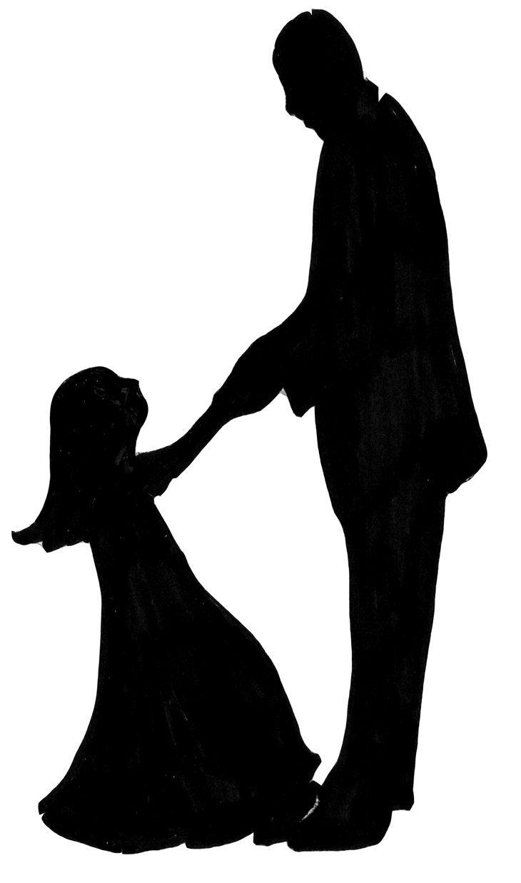 Father daughter dancing clipart