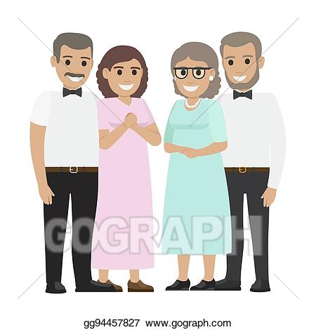 Father in law clipart picture free download Vector Clipart - Parents-in-law flat vector illustration. Vector ... picture free download