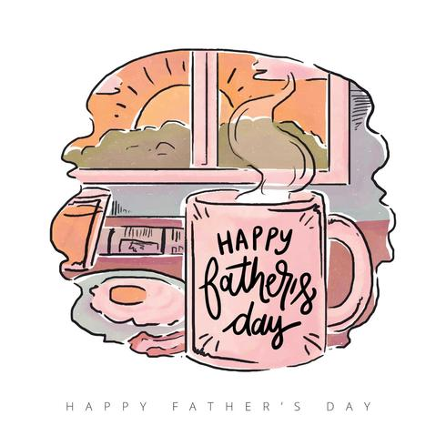 Father s day breakfast clipart image transparent library Cute Father\'s Day Breakfast With Quote Vector - Download Free Vector ... image transparent library
