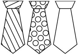 Fathers day tie clipart