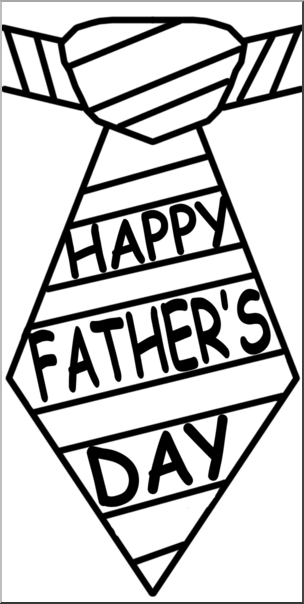Fathers day ties black and white clipart image freeuse download Clip Art: Happy Father\'s Day Tie B&W I abcteach.com | abcteach image freeuse download