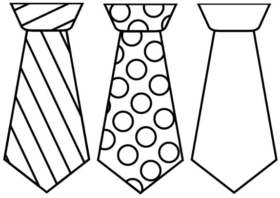 Tie clipart black and white png royalty free download Father\'s Day Tie Cards {free printable template} | Father\'s Day ... png royalty free download