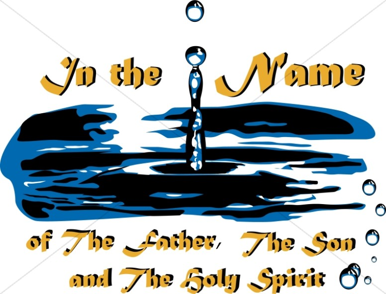 Father son and holy spirit clipart for children banner freeuse stock Baptism of Father Son and Holy Spirit | Baptism Clipart banner freeuse stock