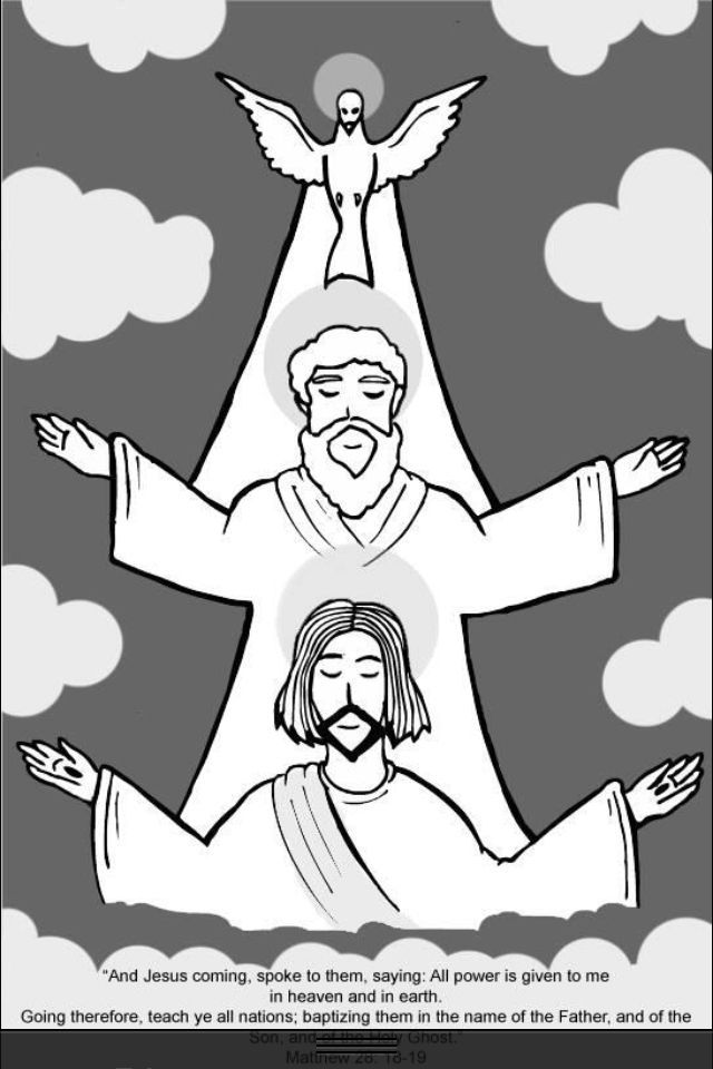 Father son and holy spirit clipart for children image transparent library Image result for Catholic Holy Trinity Coloring Pages | PSR Ideas ... image transparent library
