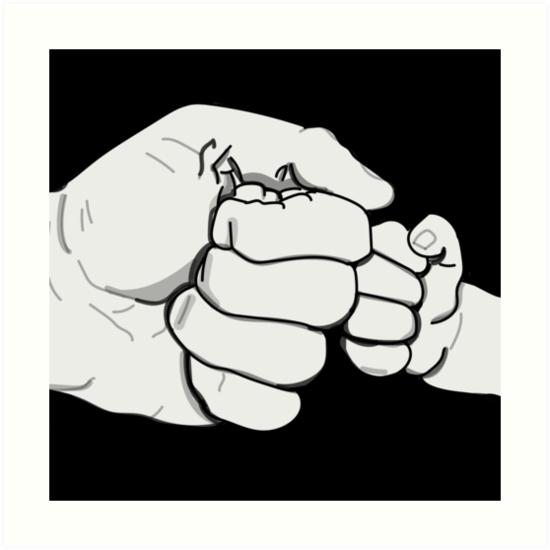 Father son fist bump clipart royalty free stock FIST BUMP\