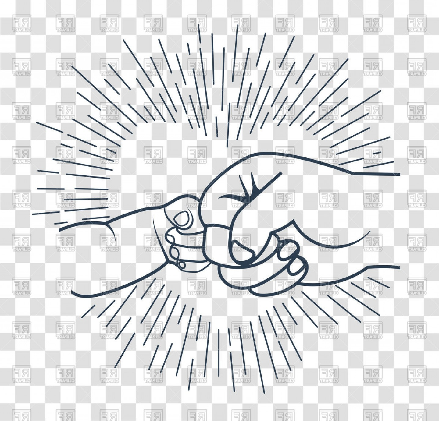 Father son fist bump clipart clipart royalty free download Friendship Hands Father And Child Gesture Fathers Day Vector Clipart ... clipart royalty free download
