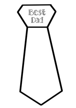 Fathers day tie clipart clip art black and white download Father\'s Day Tie Activities & Worksheets   Teachers Pay Teachers clip art black and white download