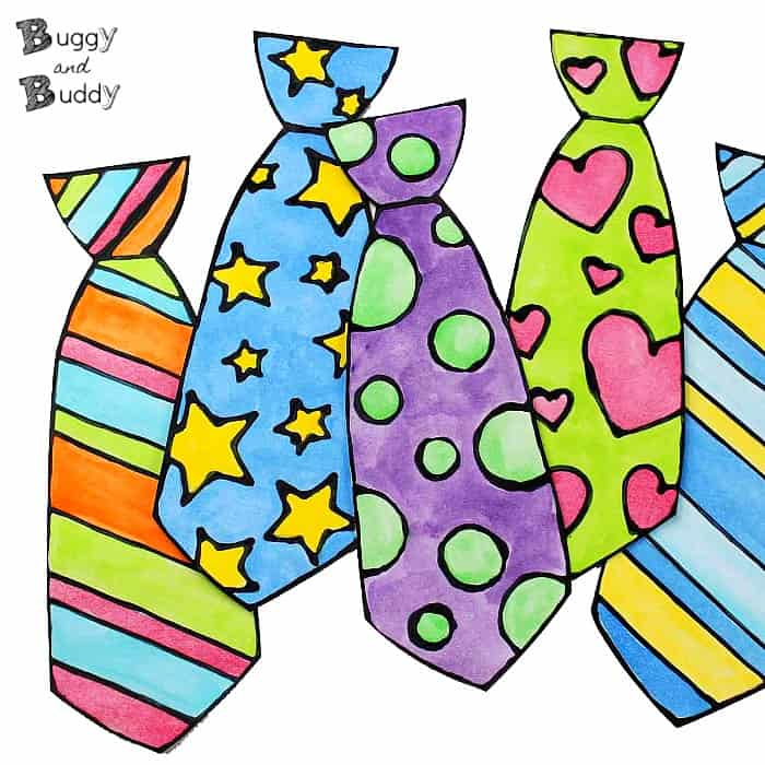 Father s day tie clipart image library Father\'s Day Craft for Kids: Black Glue and Watercolor Tie - Buggy ... image library