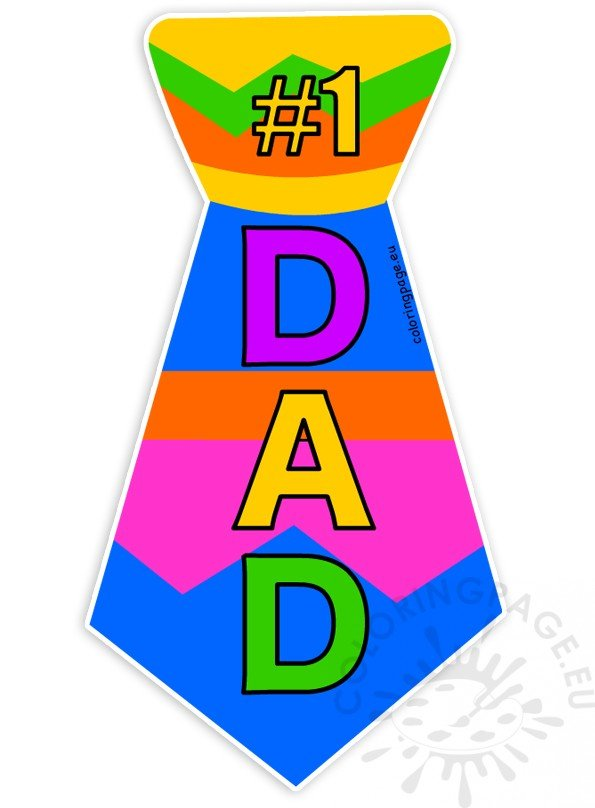 Father s day tie clipart graphic free library 1 Dad Tie Father\'s Day clipart – Coloring Page graphic free library