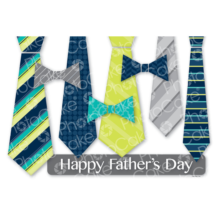 Fathers day tie clipart cakepops free printables clip art free library Edible Print Happy Father\'s Day \'Ties\' Cake Topper clip art free library