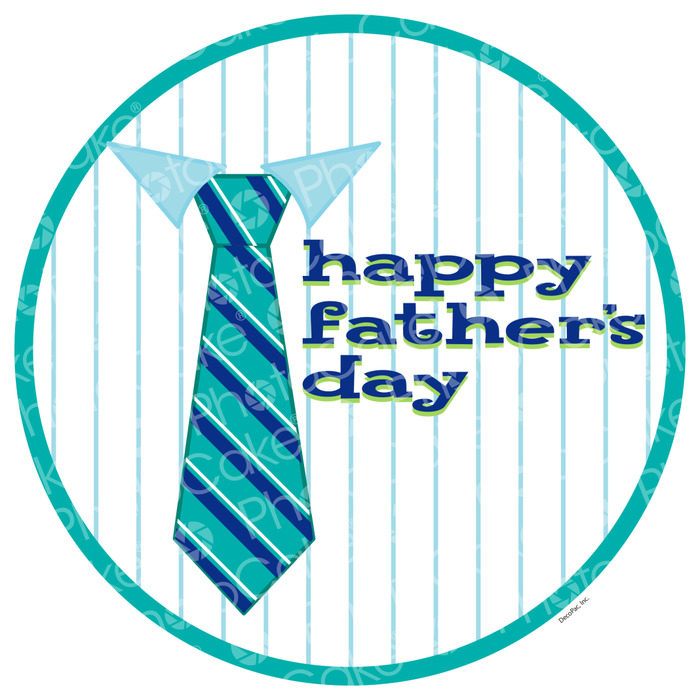 Fathers day tie clipart cakepops free printables banner freeuse stock Edible Print \'Happy Father\'s Day\' Shirt And Tie Cake Topper banner freeuse stock