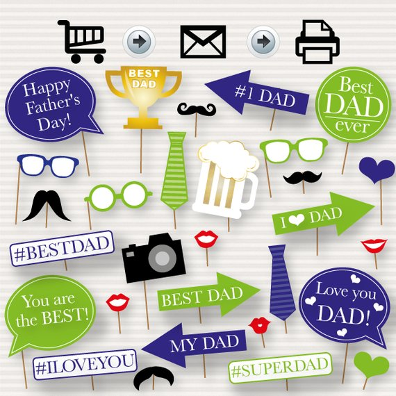 Fathers day tie clipart cakepops free printables jpg Father\'s Day Printable Photo Booth Props - Father\'s Day Photo booth ... jpg