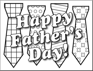 Happy fathers day black and white clipart royalty free library Clip Art: Happy Father\'s Day Ties B&W I abcteach.com | abcteach royalty free library