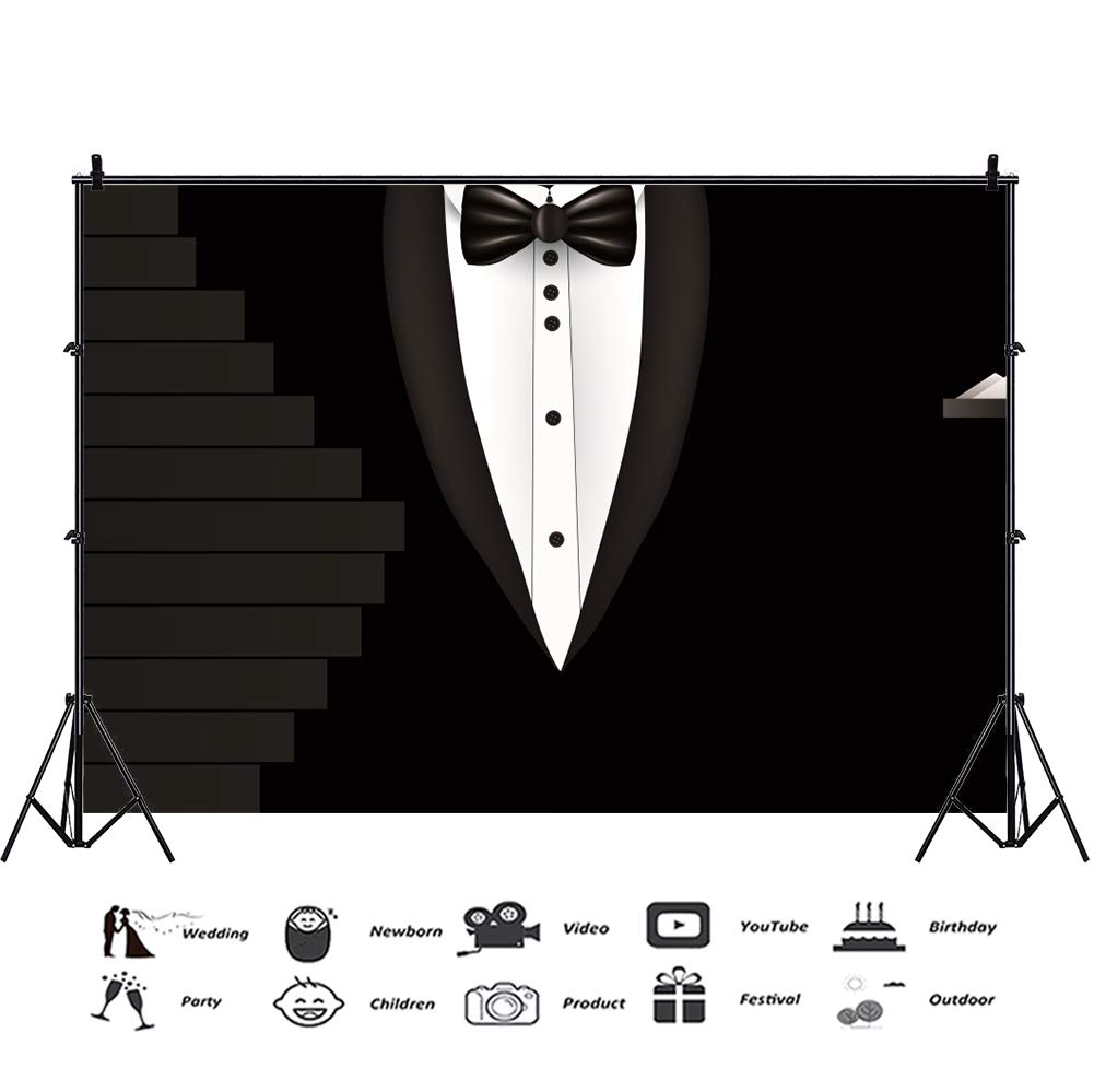 Fathers day ties black and white clipart black and white Amazon.com : AOFOTO 7x5ft Father\'s Day Background Black Tuxedo Suit ... black and white