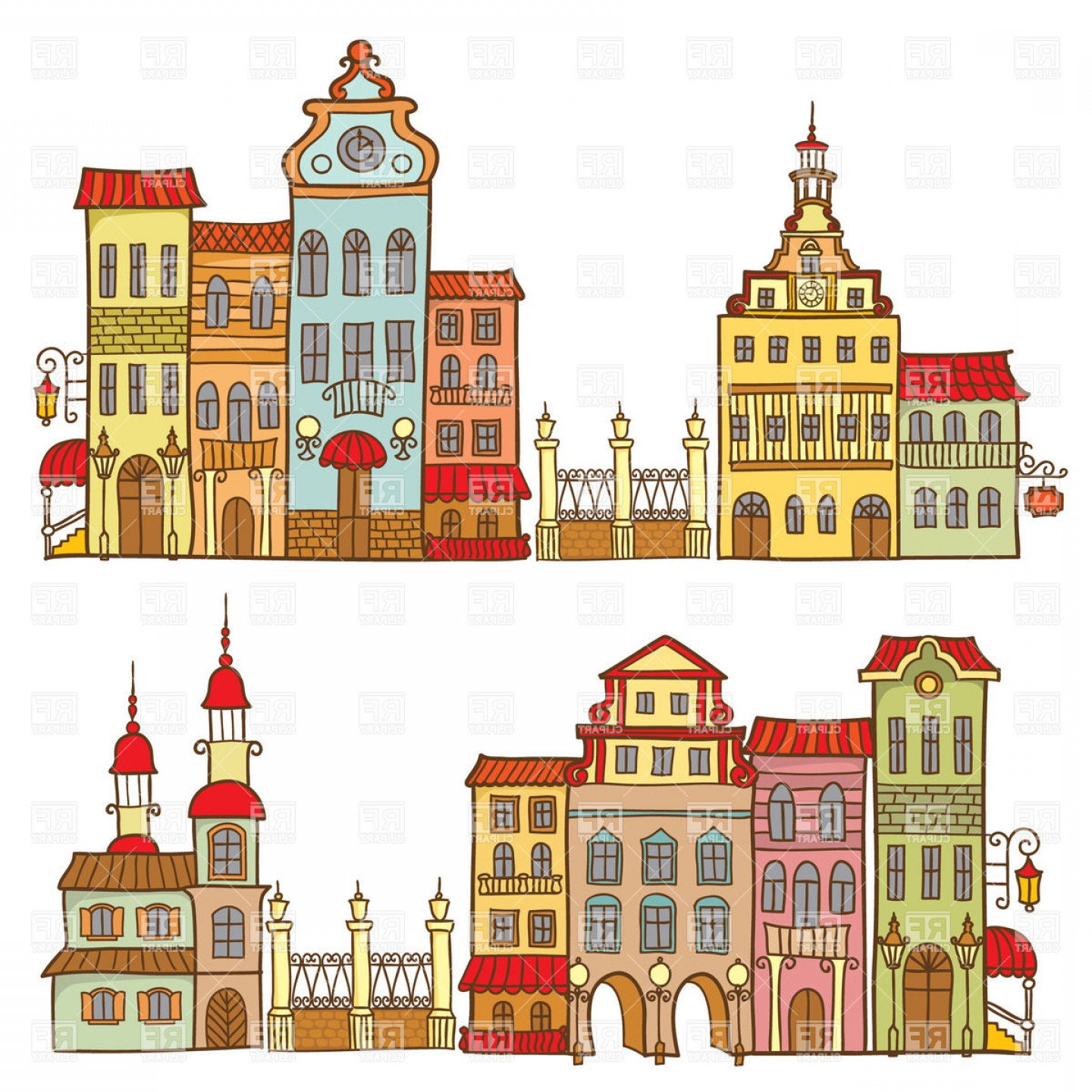 Favela clipart svg library download Brazilian Favela Seamless Background Vector Clipart   GeekChicPro svg library download