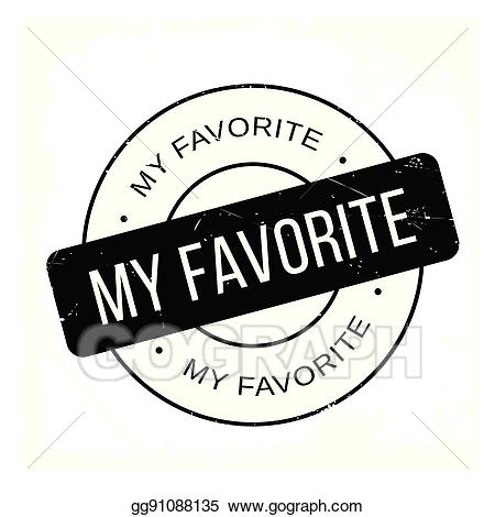 Favorite clipart jpg royalty free stock EPS Illustration - My favorite rubber stamp. Vector Clipart ... jpg royalty free stock