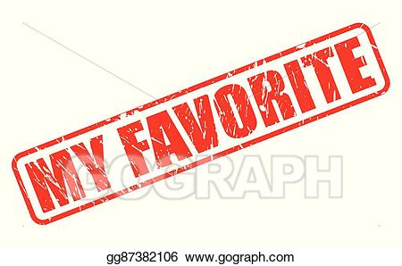 Favorite clipart png library stock Vector Stock - My favorite red stamp text. Clipart Illustration ... png library stock