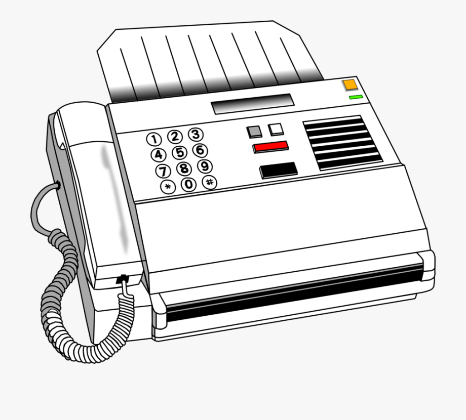 Free clipart fax machine image library library Fax Computer Icons Printer Drawing Printing - Drawing Of Fax Machine ... image library library