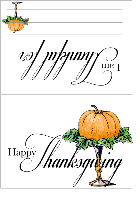 Fb clipart for thanksgiving png library download I am Thankful Printables | The Life of the Party png library download
