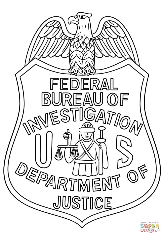 Fbi logo clipart png free stock FBI Badge coloring page | Free Printable Coloring Pages png free stock