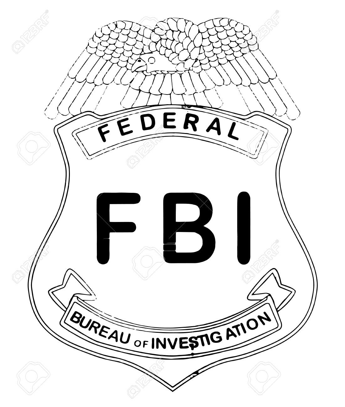 Fbi logo clipart graphic transparent stock Fbi badge clipart 3 » Clipart Portal graphic transparent stock
