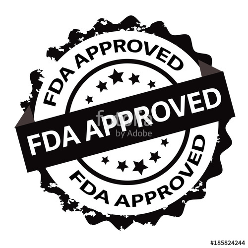 Fda approved logo clipart clip art freeuse stock Fda approved stamp. sign. seal\