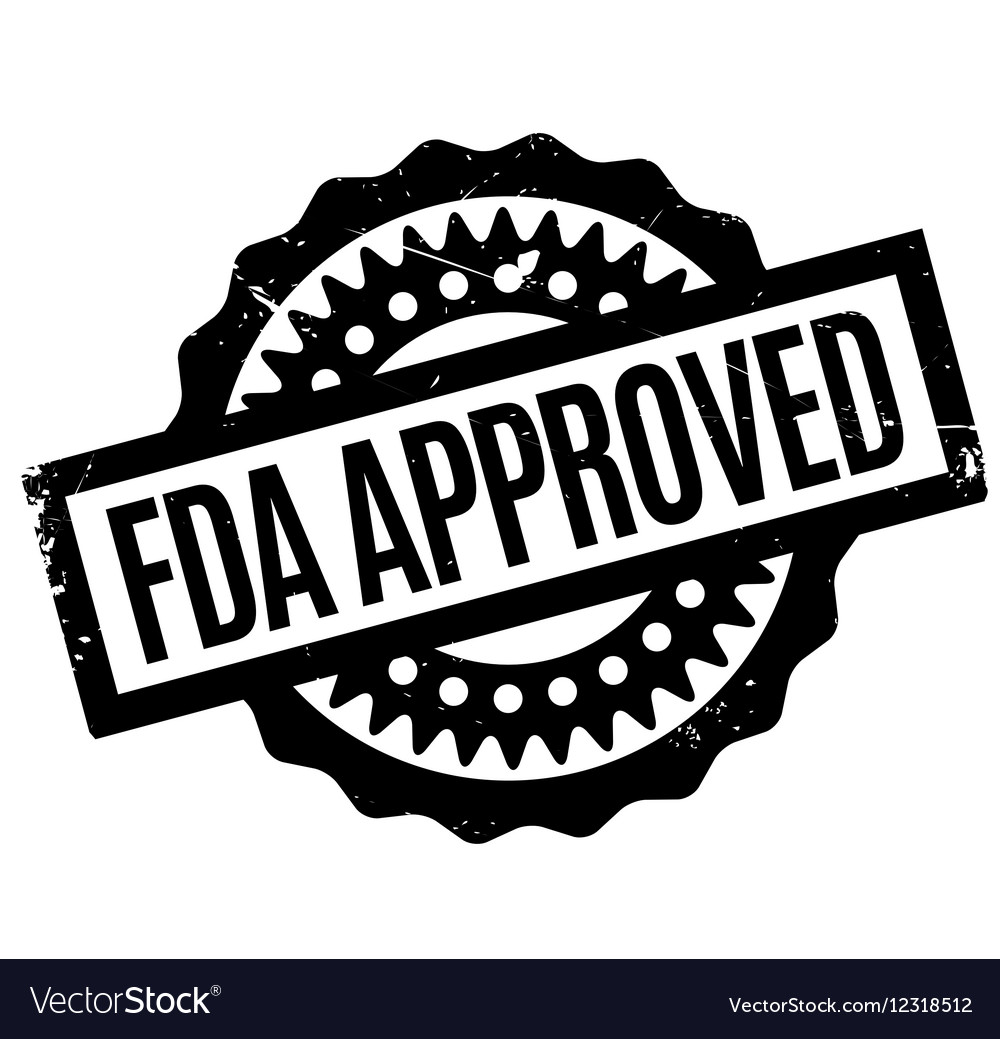 Fda approved logo clipart clip black and white Fda Approved rubber stamp vector image clip black and white