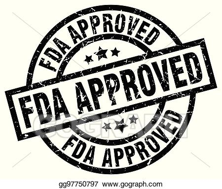 Fda approved logo clipart clipart free library Vector Illustration - Fda approved round grunge black stamp. EPS ... clipart free library