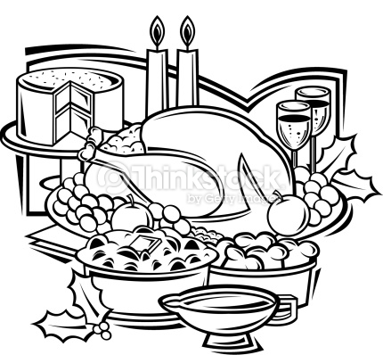Feast clipart free black and white banner black and white library Dinner Clipart Black And White | Free download best Dinner Clipart ... banner black and white library