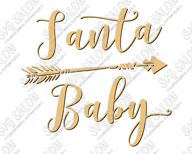 Feather arrow clipart svg svg black and white download Santa Baby Feather Arrow SVG Cut File Set for Christmas Shirt Decals svg black and white download