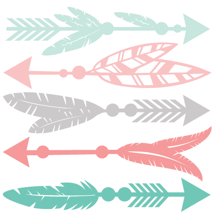 Feather arrow clipart svg svg freeuse stock Feather Arrow Set SVG scrapbook cut file cute clipart files for ... svg freeuse stock