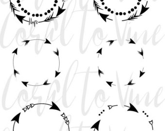 Feather arrow clipart svg jpg freeuse stock Arrow circle svg | Etsy jpg freeuse stock