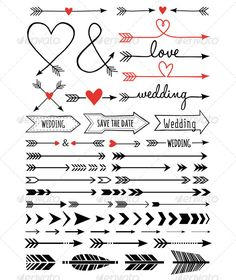 Feather arrow clipart svg graphic freeuse Valentine Arrow Set SVG scrapbook cut file cute clipart files for ... graphic freeuse