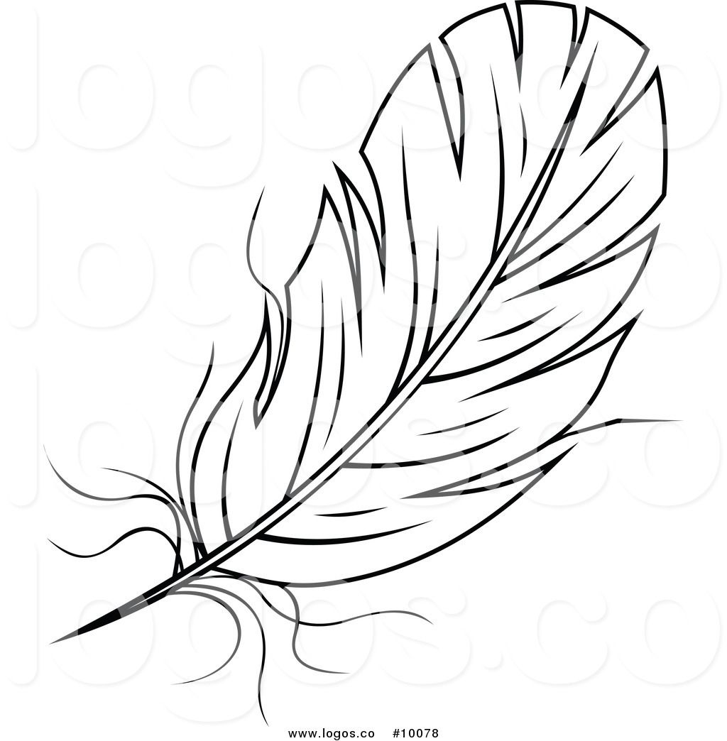 Feather clipart images black and white picture black and white stock Royalty Free Black and White Feather Stock Logo Designs | Black and ... picture black and white stock