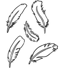 Tribal feather clipart black and white vector freeuse stock Free Feather Black And White Clipart, Download Free Clip Art, Free ... vector freeuse stock