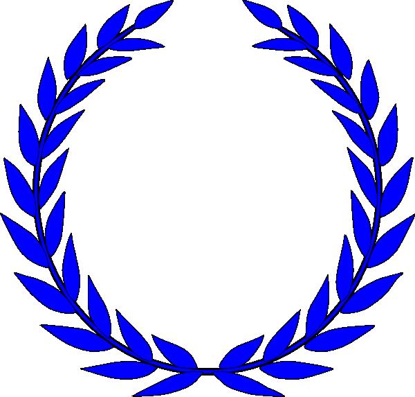 Feather crown clipart. Laurel blue clip art