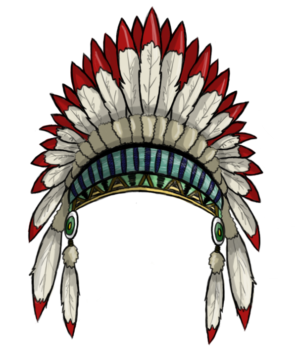 Headdress indian. Feather crown clipart