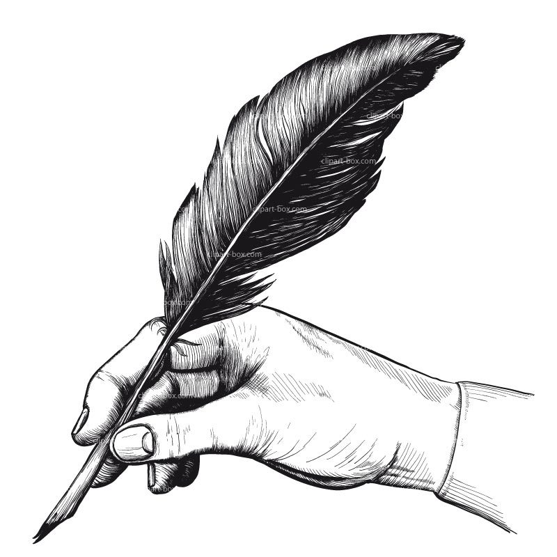 Feather pen clipart graphic free feather-pen-clipart – The Galaxy Bookshop graphic free