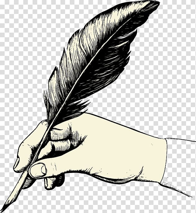 Feather pen clipart png freeuse stock Feather Paper Quill Pen , feather transparent background PNG clipart ... png freeuse stock