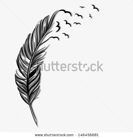 Feather turning into birds clipart image transparent library Graphic silhouettes feather free vector download (5,377 Free ... image transparent library