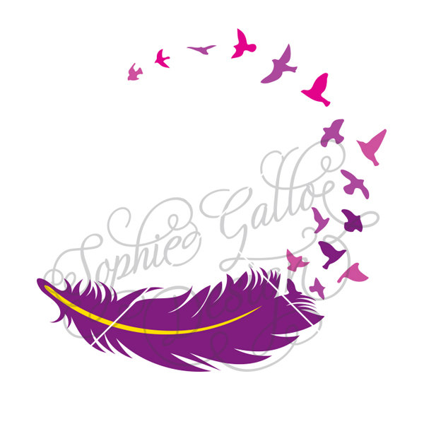Feather turning into birds clipart banner freeuse stock Feather turning into birds clipart - ClipartFest banner freeuse stock