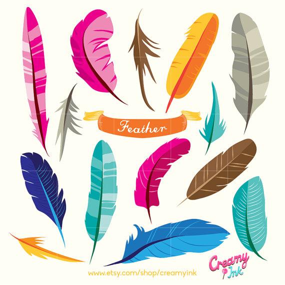 Feather turning into birds clipart vector transparent Bird Feather Digital Vector Clip art / Tribal Feathers Design ... vector transparent