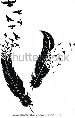 Feather turning into birds clipart image free download Feather turning into birds clipart - ClipartFest image free download