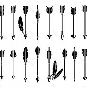 Feathered arrow black clipart banner transparent stock Best Feathered Arrow Clip Art Black And White Draw | Vectory banner transparent stock