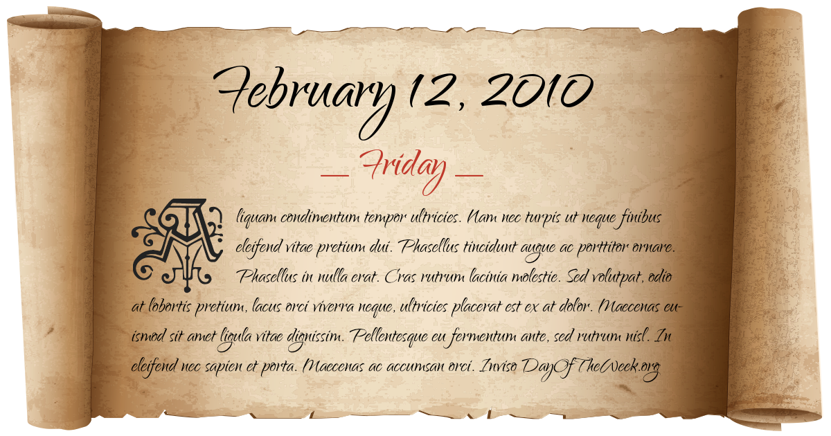 February 12 zodiac svg What Day Of The Week Was February 12, 2010? svg