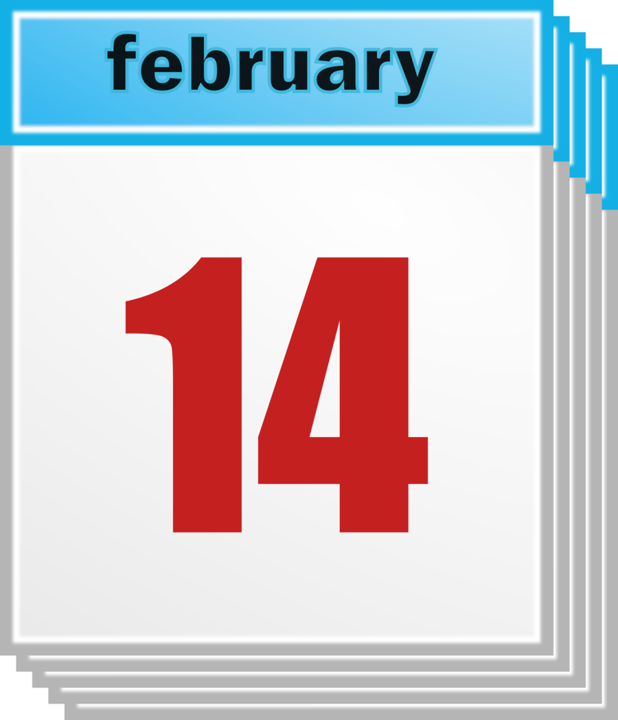 February 14 clipart graphic free download Calendar Cartoontransparent png image & clipart free download graphic free download