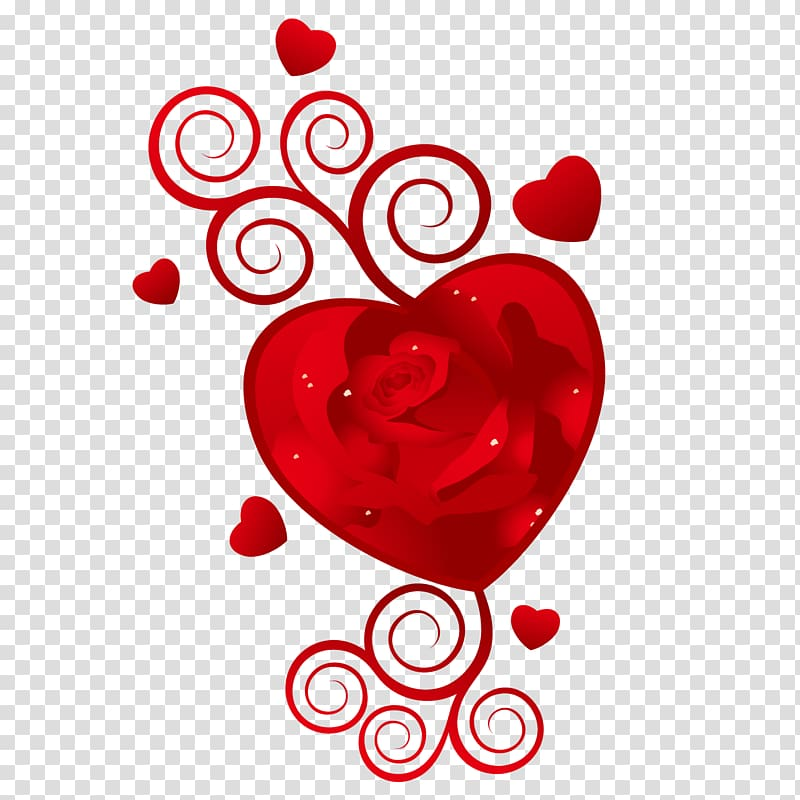 February 14 clipart svg freeuse stock Happy Valentines Day February 14 Wish, Red rose heart transparent ... svg freeuse stock