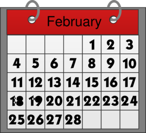 Freeware calemdar clipart png freeuse download February Calendar Clip Art at Clker.com - vector clip art online ... png freeuse download