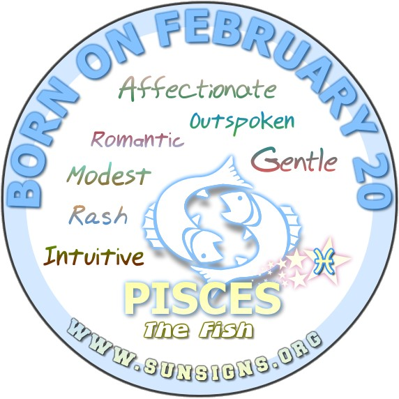 February 20 zodiac picture freeuse library Pisces February 20 - Birthday Horoscope Personality Traits | Sun Signs picture freeuse library